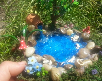 Fairy Garden Pond,Fairy Pond, Miniature Pond, Fairy Garden Accessory,Miniature Garden Pond,Miniature Garden Accessory, Fairy Garden Kit