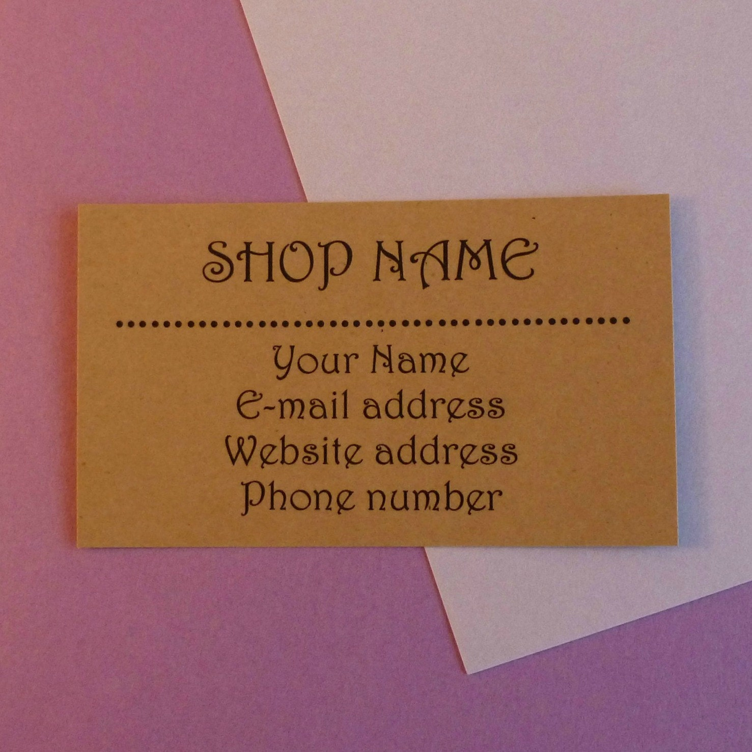 kraft business cards kraft paper business cards personalized kraft