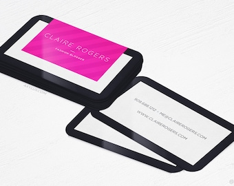 Fashion Blogger Business Cards - Writer - Rounded Corners - 16PT UV - Design and Printing - 100, 250, 500, 1000