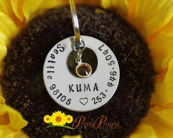 Handstamped Dog Tag - Personalized Pet/Dog Tag -Pet Accessories - Custom Pet Tag