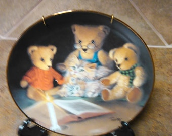 Franklin Mint Heirloom Recommendation Story Hour Collectible Plate Due Willis