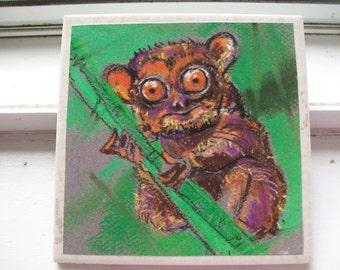 Tarsier Monkey NoZoo Art Tile