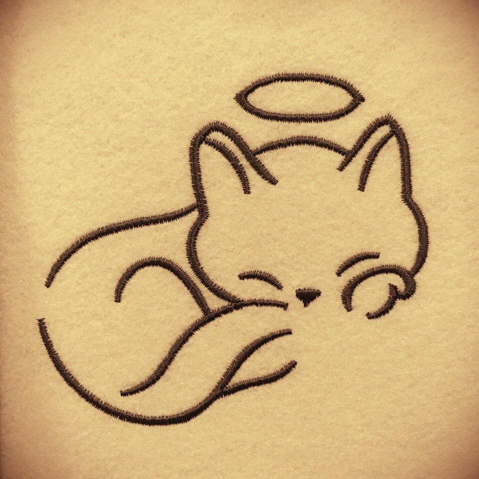 Machine embroidery design cat animal