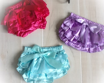 On Sale Baby Girl Ruffle Bloomers, Baby Girl Ruffle Diaper Cover, Clearance Baby Bloomer