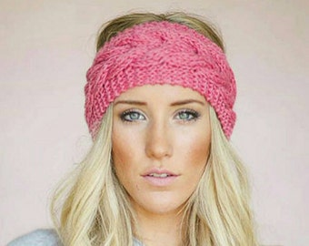 Pink Knitted Turban