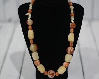 Botswana Agate, Jasper and Aventurine Necklace
