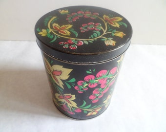 Russian Tin Box -  Soviet Tin Container -  Vintage Metal Tin Boxes For Kitchen