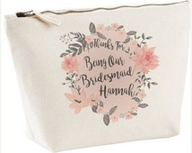 FLASHSALE Personalised Thanks For Being Our Bridesmaid Cosmetic Bag | Bridesmaid Cosmetic Tote