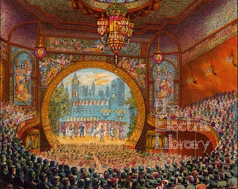 Boston Bijou Theatre Digital Download: A Stunning Illustration of a Victorian Theatrical Jewel