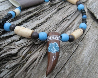 Blue native necklace