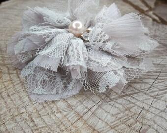 Pearl Fabric Hair Clip ~1 pieces #100799