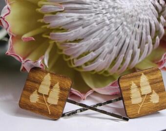 Mulla Mulla Flower Bobby Pins-Flower Hair Pins-Flower Bobby Pins-Wood Lasercut-Wildflower Hair Pin-Australian Wildflower-Mulla Mulla