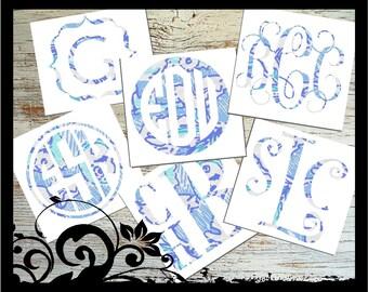 "Kappa Kappa Gamma - ""Lily Pulitzer Inspired"" - Vine Script Initals; vinyl decals; Greek Letters, Waterproof, outdoor vinyl"