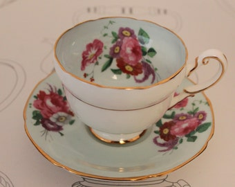 RARE Paragon 1940s Coffee Cup and Saucer