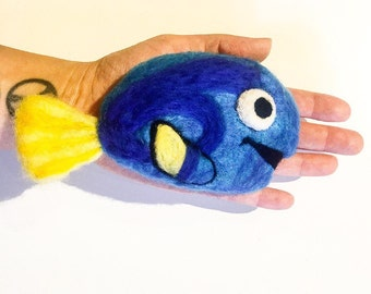 Felted soap, Felted fish, pacific blue fish, blue fish, Handmade soap