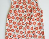 Vintage 60s Floral Button Up Tank Top - Size M/L