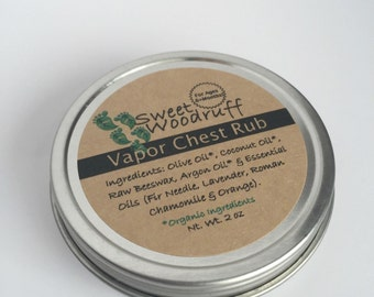 Organic Vapor Rub | 6+ Months | Chest Rub | Herbal Chest Rub | Breath Easy | Congestion | Kid Safe