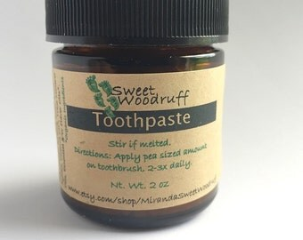 Organic Toothpaste | Toothpaste | Fluoride Free Toothpaste | All Natural Toothpaste | Remineralizing | Homemade Toothpaste | Oral Care