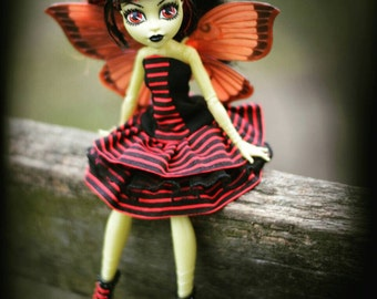 Monster High or Ever After High handmade dress