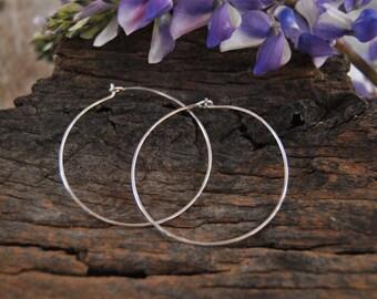Silver Hoop Earrings Sterling Silver Hoops Minimalist Jewelry Everyday Hoop Earrings Simple Hoop Earrings