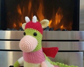 Dexter the Dragon - Crochet Soft Toy for Boys and Girls