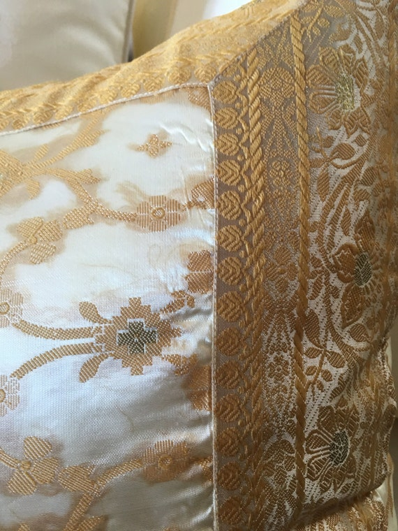 Decorative Pillows White And Gold : White and gold Pillow cover decorative pillows by TaraDesignLA