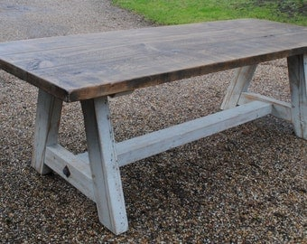 A Frame Rustic Wooden Dining Table