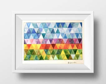 Geometric Watercolor Triangulars