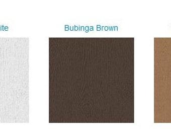 25 Wood Grain Belly Bands - Choose Color