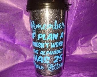 Personalized Glitter Travel mug