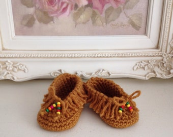 Baby Shoes-Newborn-Moccasin- Booties