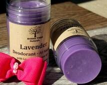 Lavender Natural Deodorant - Natural Handmade Deodorant - Organic Shea butter Deodorant - Purse size Deodorant (1oz)w
