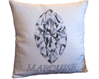Marquise Diamond Pillow