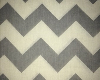 Grey and White Chevron Pillow