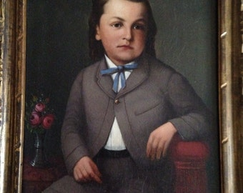 Americana Portrait of Seated LittleBoy