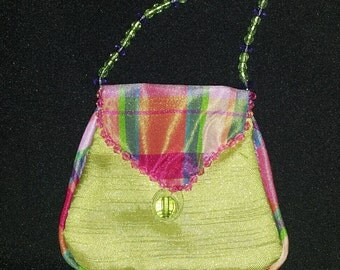 10 bags- Beaded Purse Favor Bags