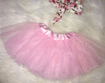 Add-on pink tutu and headband