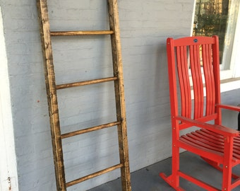 5ft x 21 inches Blanket Ladder- Round rungs- Hand Crafted in the USA....Please specify which color you want when you purchase thank you