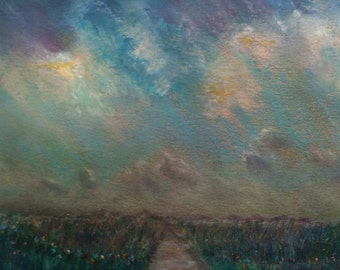 The Distant Path Sunset