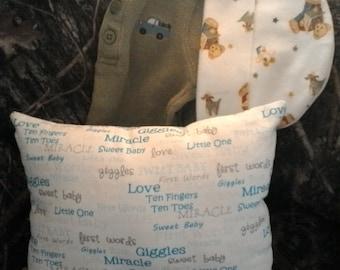 Baby boy crib pillow
