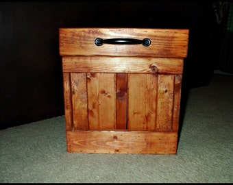 Wood Trash Can, Bathroom Trash Can, Garbage Can, Waste Basket, Home and Office Decor, Small Trash Can, Waste Can, Storage, Home, Rustic
