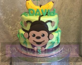 Little monkey 2-tier Fake  Cake / Display Cake/Fake Cake