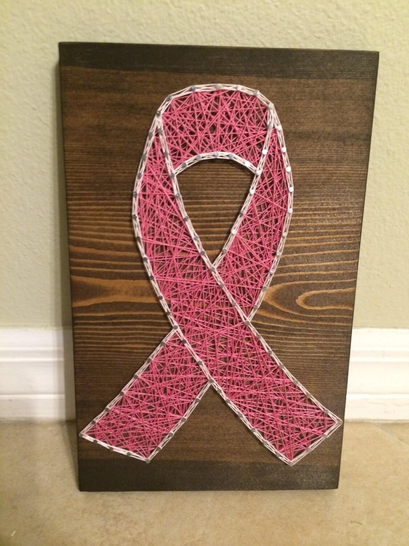 Custom Cancer Survivor Ribbon String Art Cancer Ribbon