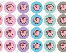 A483 | PIGGY BANK Circles Stickers Perfect for Erin Condren Life Planner, Filofax, Plum Paper & other planner or scrapbooking