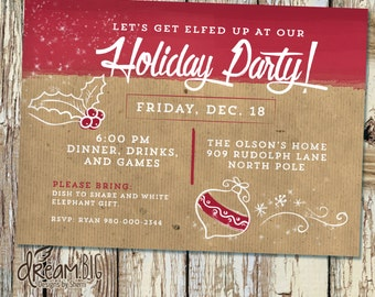 Holiday escape room invite printable digital pdf and jpeg for Escape room party