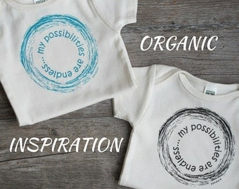 my possibilities are endless, Organic Cotton Baby Onesie, Organic Baby Clothes, Gender Neutral Baby Gift, Unique Onesie, Cute Baby Clothes