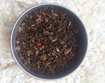 MAYAN CHOCOLATE TEA  Organic Tea Blend, Organic Loose Tea, Loose Tea Blend