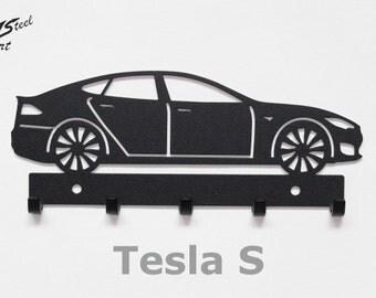 Key rack Tesla S, design, gift, idea