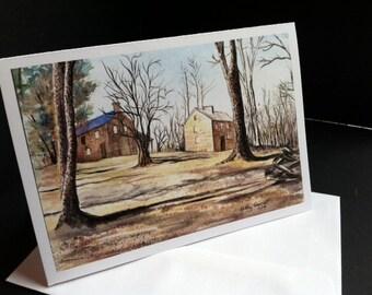 Oconee Station Greeting Card,  print from original watercolor