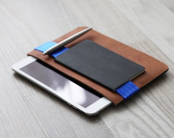 customized tablet iPad cover with safety belt for accessories